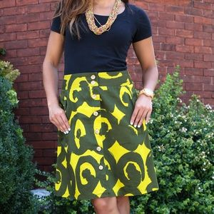 Marimekko for Anthropologie women 2 pencil skirt